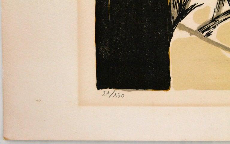 Gabriel Godard Original Lithograph In Good Condition For Sale In Sharon, CT