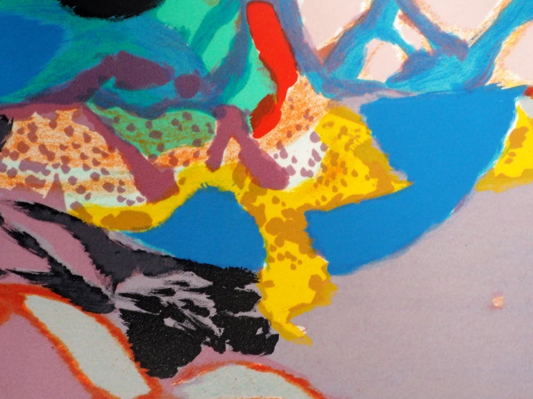 Abstract landscape - Original lithograph, Handsigned For Sale 4