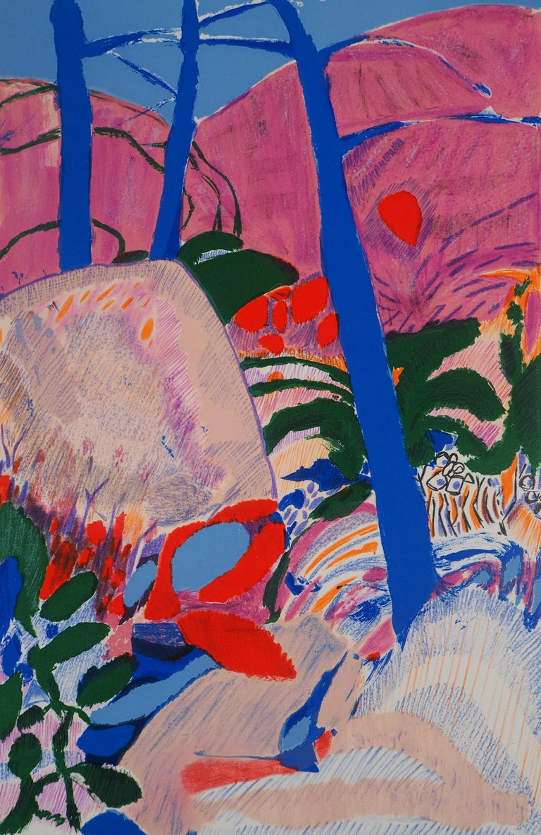 The Forest - Original Lithograph, Handsigned - Abstract Print by Gabriel Godard