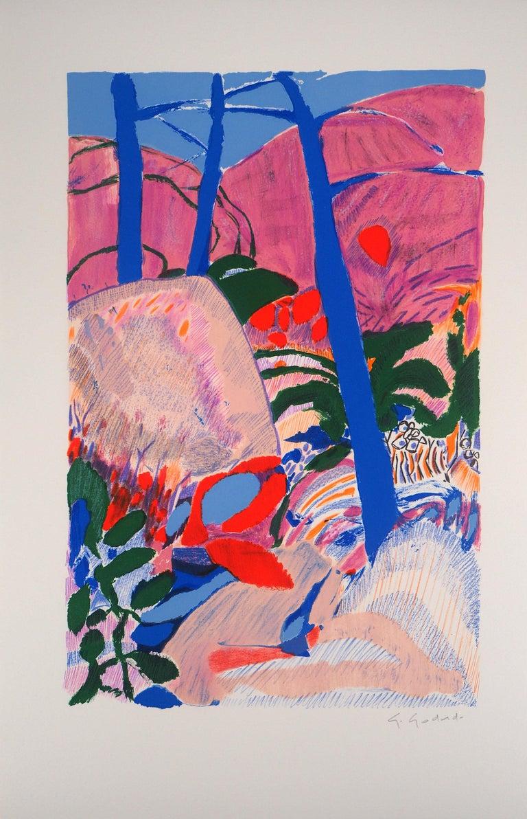 Gabriel Godard Landscape Print - The Forest - Original Lithograph, Handsigned