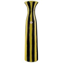"Gabriel Keramik, Sweden, ""Tropik"" Vase in Glazed Ceramics, Striped Design"