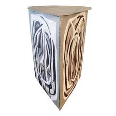 Gabriel Macotela Acrylic on Cardboard Triptych