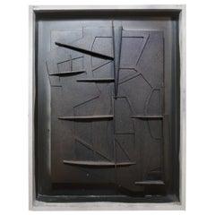 """Gabriel Macotela """"Construcción Obscura"""" Cardboard Collage"""