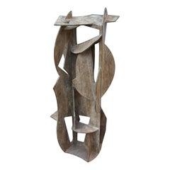 "Gabriel Macotela ""Torre"" Geometric Bronze Sculpture"
