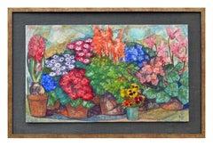 Mid Century Spring Mix Floral Landscape