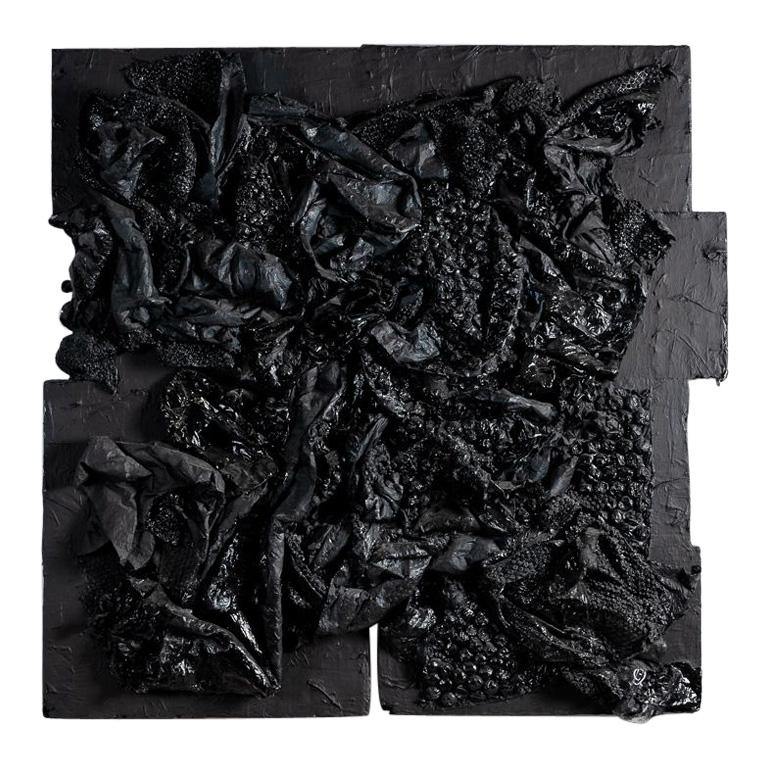 Gabriel Shuldiner, Data[t]Rash, Black Painting, United States, 2015 For Sale