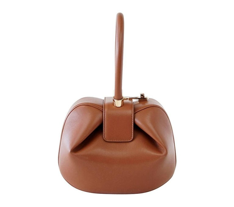 Brown Gabriela Hearst Nina Bag Cognac Calf Leather Limited Edition Very Rare For Sale
