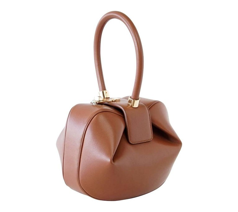 Women's Gabriela Hearst Nina Bag Cognac Calf Leather Limited Edition Very Rare For Sale