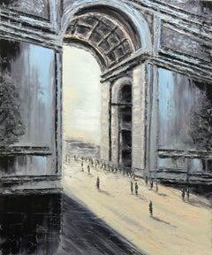Arc De Triomphe, Painting, Oil on Canvas