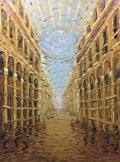 Golden Galleria, Painting, Oil on Canvas