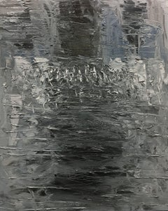 Reflections in Grey 2-1-19, Painting, Oil on Canvas