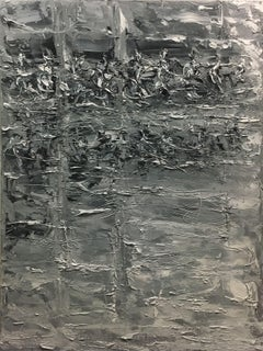 Relections in Grey 8-26, Painting, Oil on Canvas