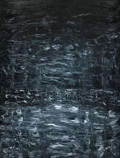 Untitled 2-15-19 night reflections, Painting, Oil on Paper