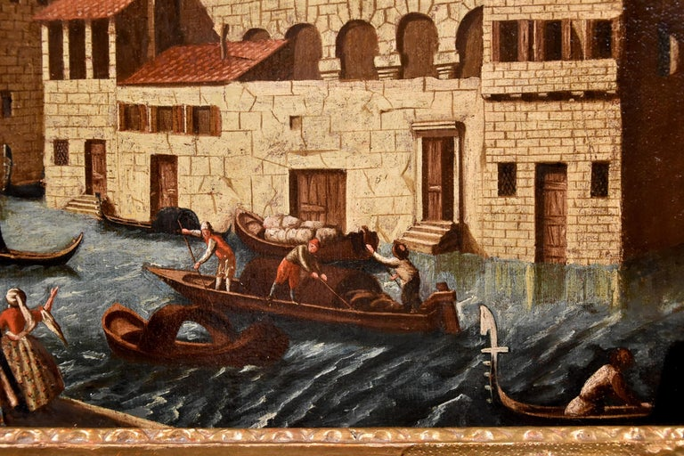 Gabriele Bella Venice Landscape 18th Century paint Oil on canvas Old master View For Sale 7