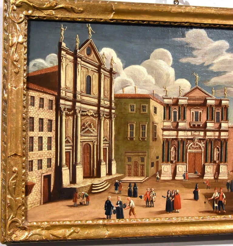 Gabriele Bella Venice Landscape 18th Century paint Oil on canvas Old master View For Sale 8