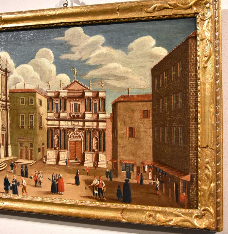 Gabriele Bella Venice Landscape 18th Century paint Oil on canvas Old master View For Sale 9