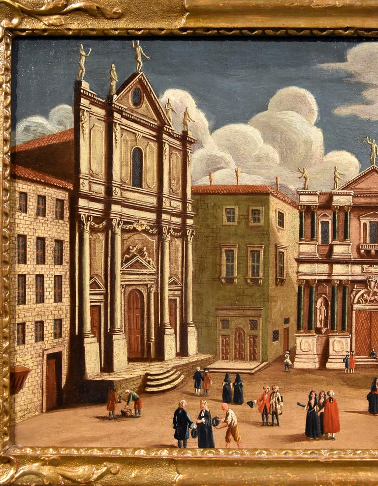 Gabriele Bella Venice Landscape 18th Century paint Oil on canvas Old master View For Sale 10