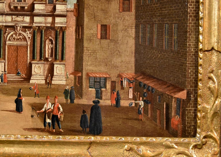 Gabriele Bella Venice Landscape 18th Century paint Oil on canvas Old master View For Sale 13