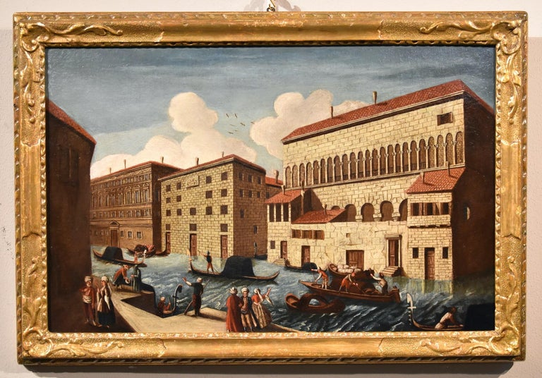 Gabriele Bella Venice Landscape 18th Century paint Oil on canvas Old master View For Sale 2