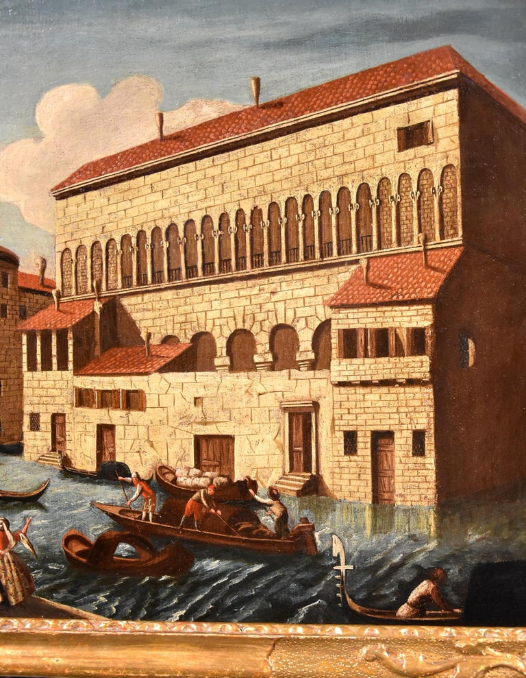 Gabriele Bella Venice Landscape 18th Century paint Oil on canvas Old master View For Sale 3