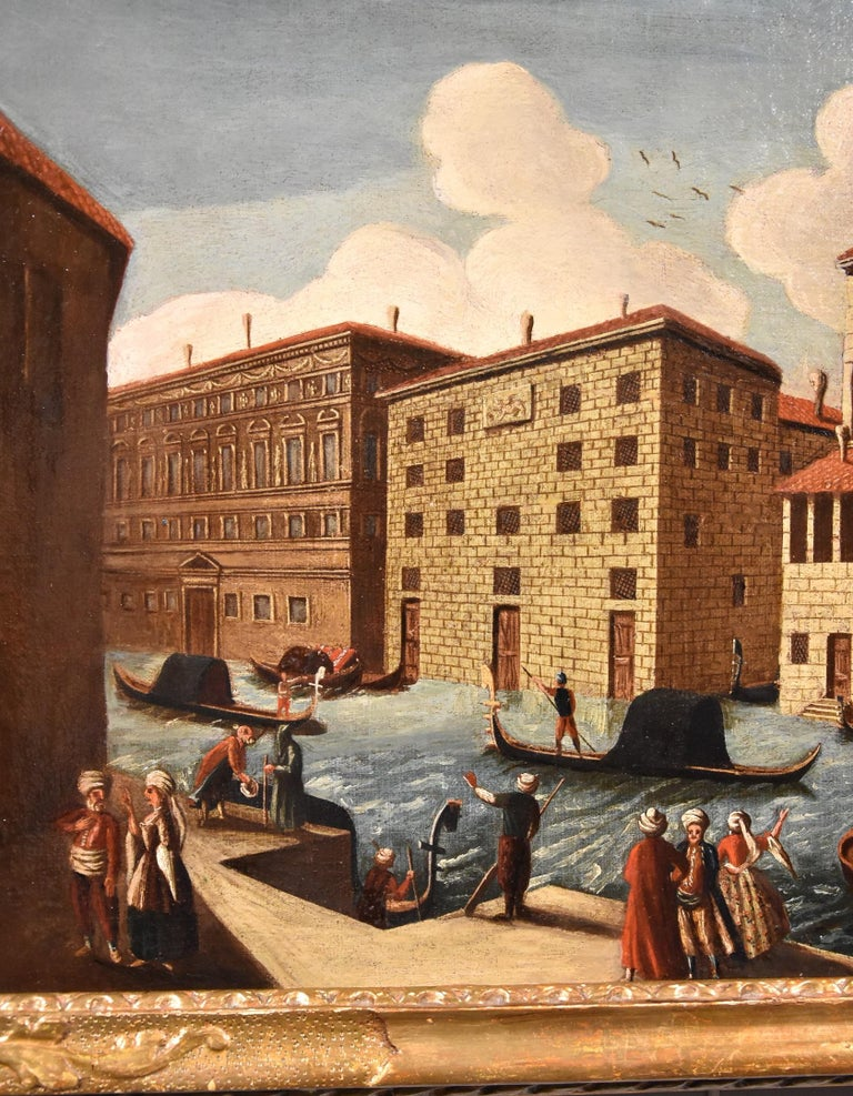 Gabriele Bella Venice Landscape 18th Century paint Oil on canvas Old master View For Sale 4