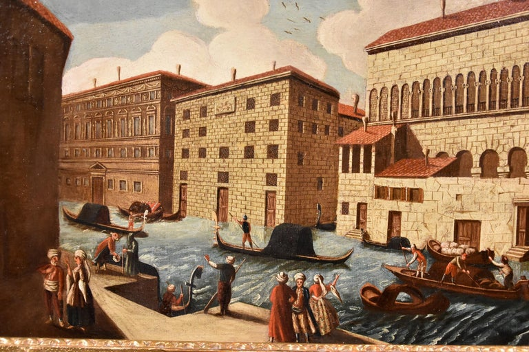 Gabriele Bella Venice Landscape 18th Century paint Oil on canvas Old master View For Sale 5