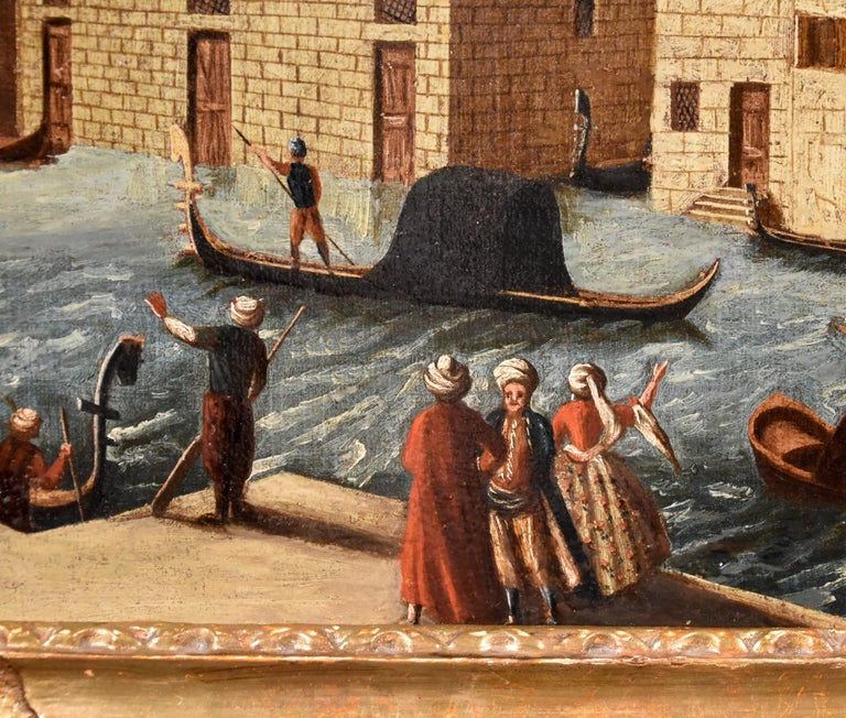 Gabriele Bella Venice Landscape 18th Century paint Oil on canvas Old master View For Sale 6