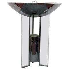 Midcentury  Chrome-Plated Table Lamp Gabriele D'Alì Enzo Francesconi Italy 70s