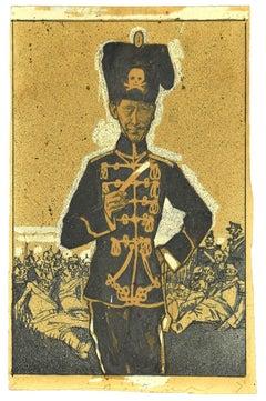 The commander - Original Mixed Media by Gabriele Galantara - Early 20th Century