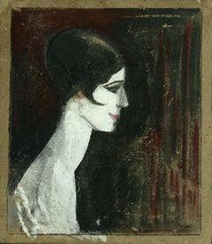 Woman Figure - Original Mixed Media by Gabriele Galantara - 1905 ca.