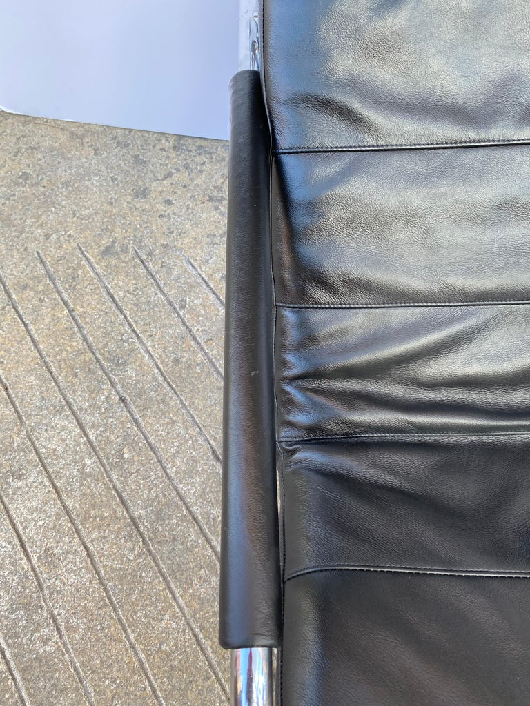 Gabriele Mucchi Genni Chrome and Leather Lounge Chair for Zanotta For Sale 3