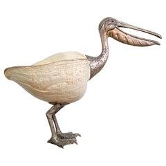 Gabriella Binazzi Sterling Silver and Mellow Mellow Shell Pelican