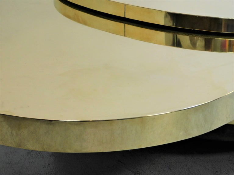 Gabriella Crespi Ellisse Brass Coffee Table, 1976 For Sale 6