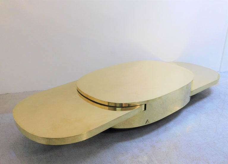 Gabriella Crespi Ellisse Brass Coffee Table, 1976 For Sale 2
