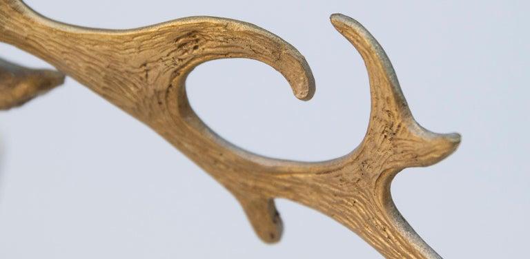 Italian Gabriella Crespi Golden Deer Glass Bowl