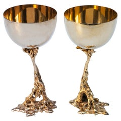 Gabriella Crespi Golden Gold-Plated Wine Cups