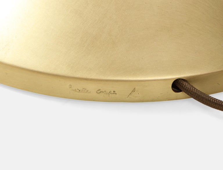 Gabriella Crespi Large Bamboo and Brass 'Fungo' Table Lamp For Sale 6