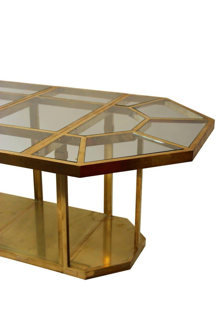 Mid-Century Modern Gabriella Crespi Puzzle Table, Impressed with Facsimile Signature For Sale