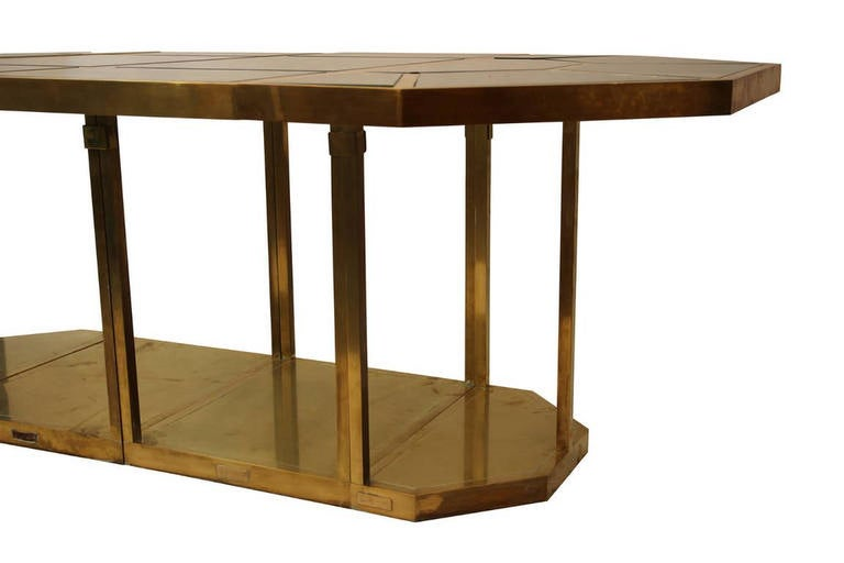 Gabriella Crespi Puzzle Table, Impressed with Facsimile Signature For Sale 1