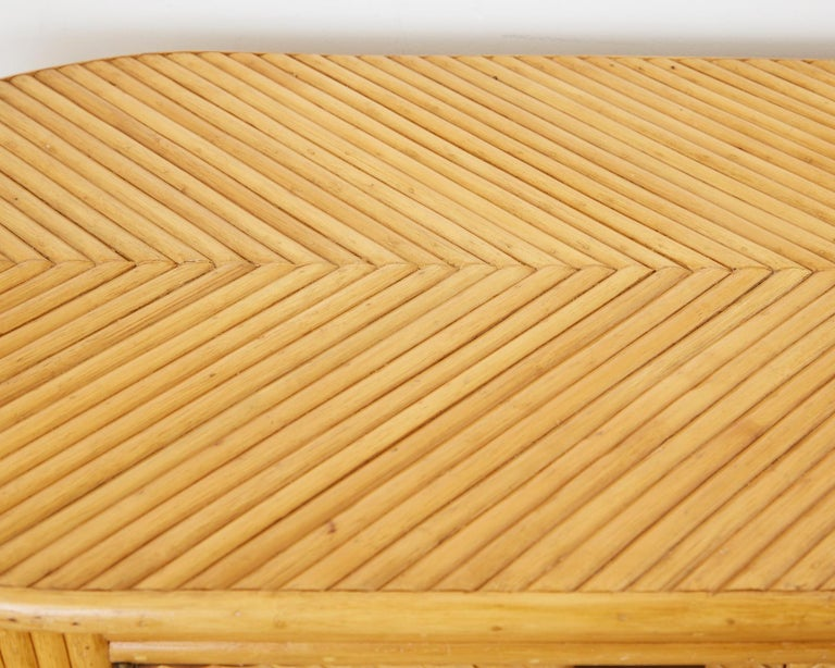 Gabriella Crespi Style Bamboo Rattan Sideboard Server For Sale 10