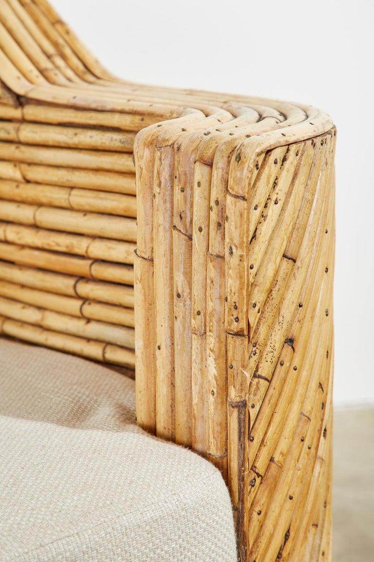 Organic Modern Bamboo Rattan Sofa and Lounge Chairs For Sale 13