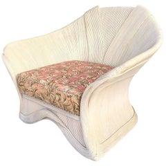Gabriella Crespi Style Rattan Club Chair