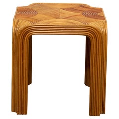 Gabriella Crespi Style Rattan Side Table