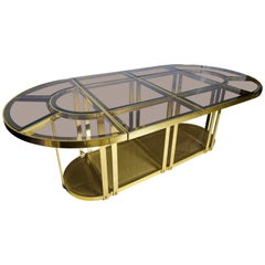 Gabriella Crespi Style Sectional Dining Table  Italy, 1970s