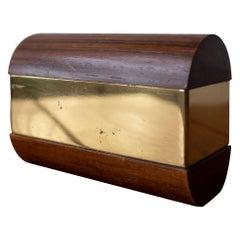 Gabriella Crespi Wood and Brass Box, 1970s
