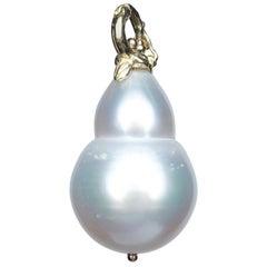 Gabrielle Sanchez White South Sea Pearl 18 Karat Enhancer/Pendant