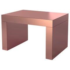 Gaby Contemporary Coffee Table Rose Gold Aluminium