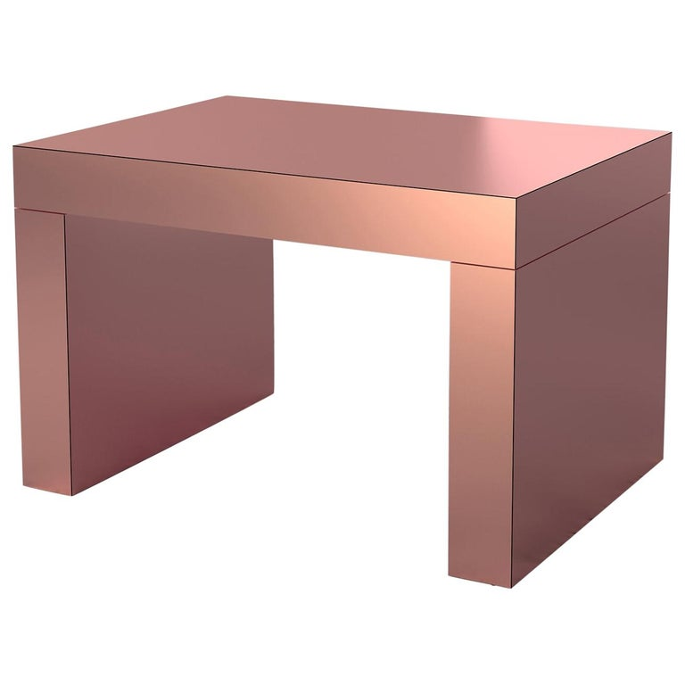 Chapel Petrassi Contemporary Coffee Table Rose Gold Gaby Aluminium For Sale