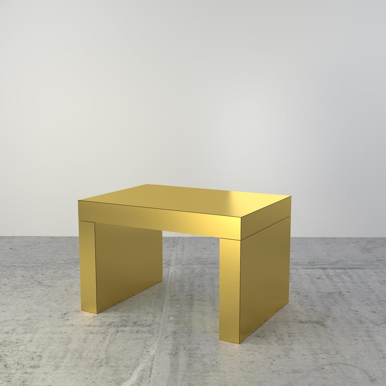 Contemporary Bench/Coffee Table Sand Bronze Gaby Aluminium by Chapel Petrassi In New Condition For Sale In Le Perreux-sur-Marne, FR