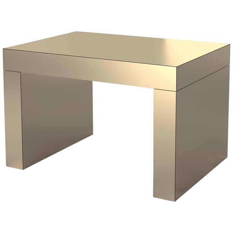 Contemporary Bench/Coffee Table Sand Bronze Gaby Aluminium by Chapel Petrassi For Sale